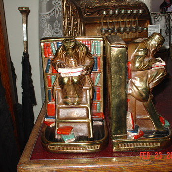 Grandfather's  Antique Bookends
