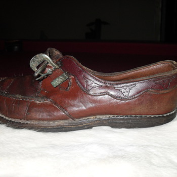 Red leather  shoe,  I found  these with some Red Goose shoes.