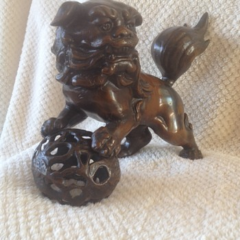 Bronze / Iron Foo Lion Dog Vintage Purchased in 1967