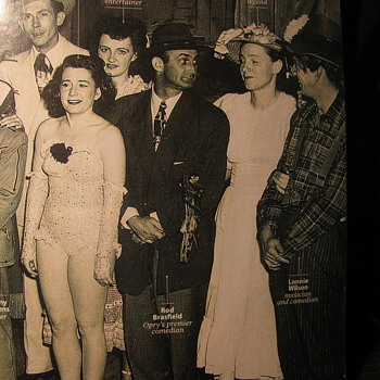 "Early ""GRAND OLE OPRY PHOTO"""