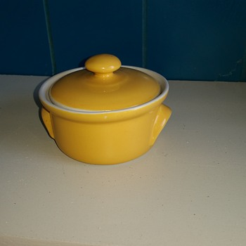 Can anyone tell me what this Hall China bowl is? Maybe a sugar bowl