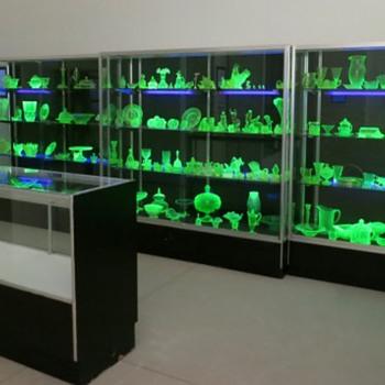 Uranium Glass Shelves - Glassware