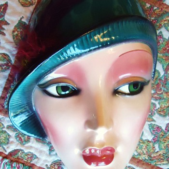 Art Deco ceramic mask, Clay Arts,  San Francisco - Art Deco