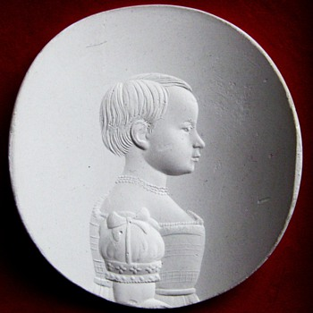 Cast Plaster from a D. Biemann Engraving on Glass - Art Glass