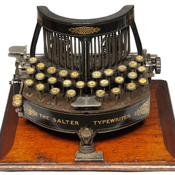 The Salter Typewriter - 1892 (antiquetypewriters.com) - Office