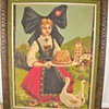 Vintage Girl &amp; Ducks Framed Linen