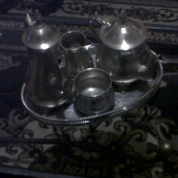 5 pce silver tea set