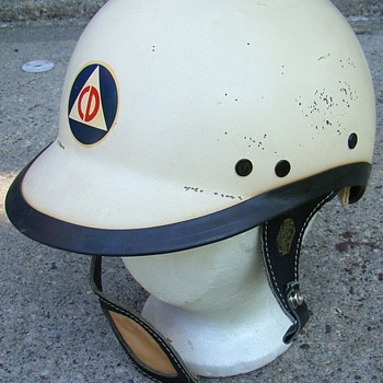 OLD MILWAUKEE CIVIL DEFENCE HARLEY DAVIDSON HELMET