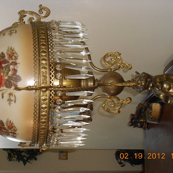 duplex double wick with snuffer oil lamp - Lamps