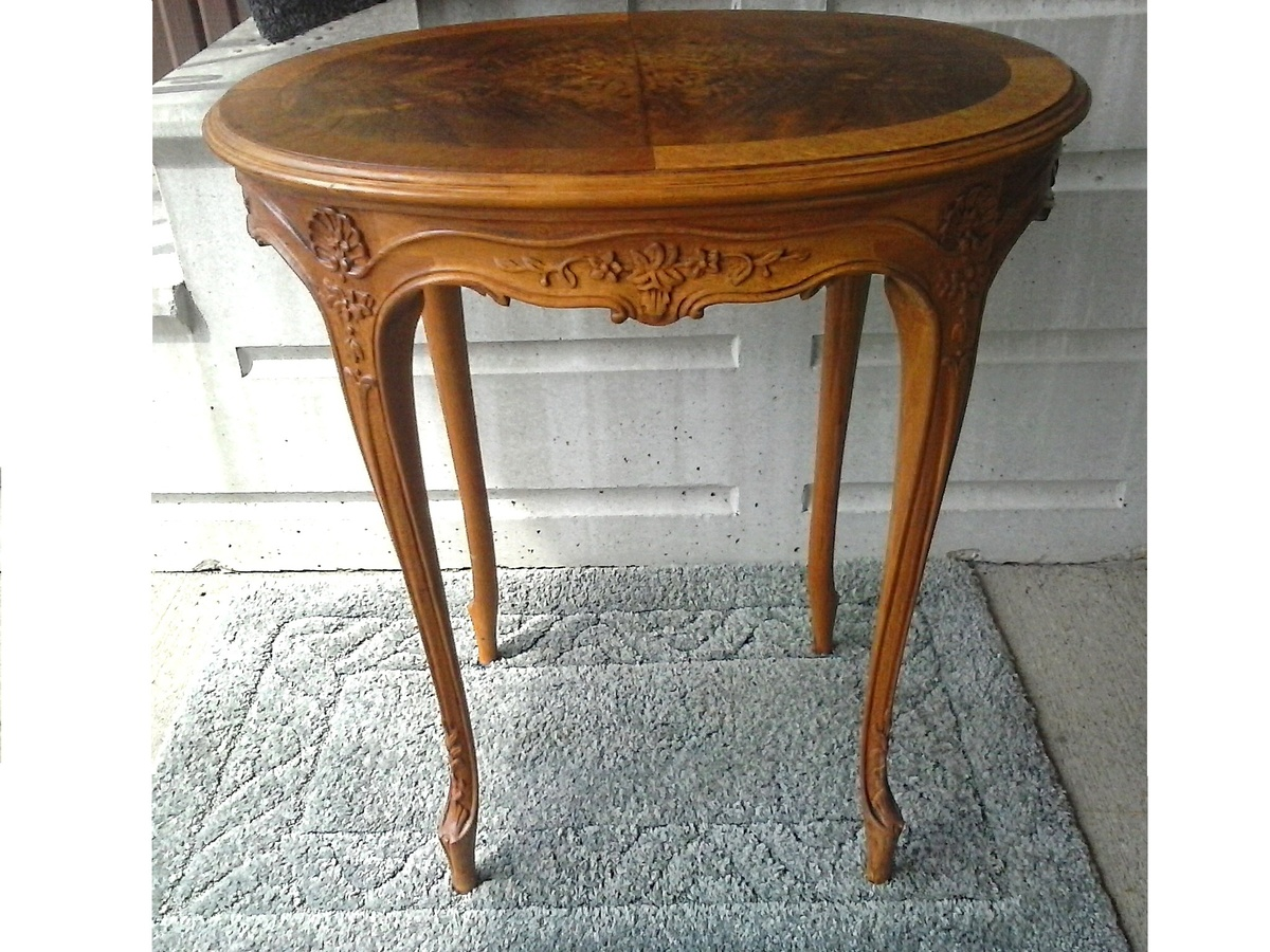 Imperial Furniture Co Grand Rapids Michigan Louis Xv Style Carved Oak Ocassional Table With