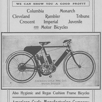 1902 American Motor Bicycle Advertisement - Animals