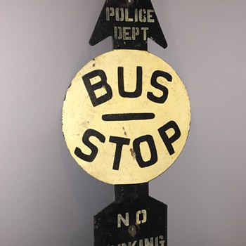 Steel NYC Bus Stop sign - Signs
