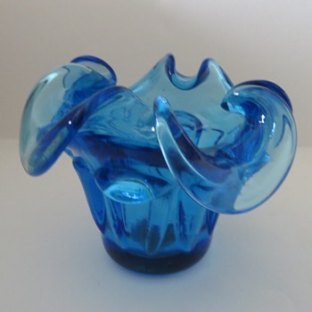 Murano Blue Glass Bowl?