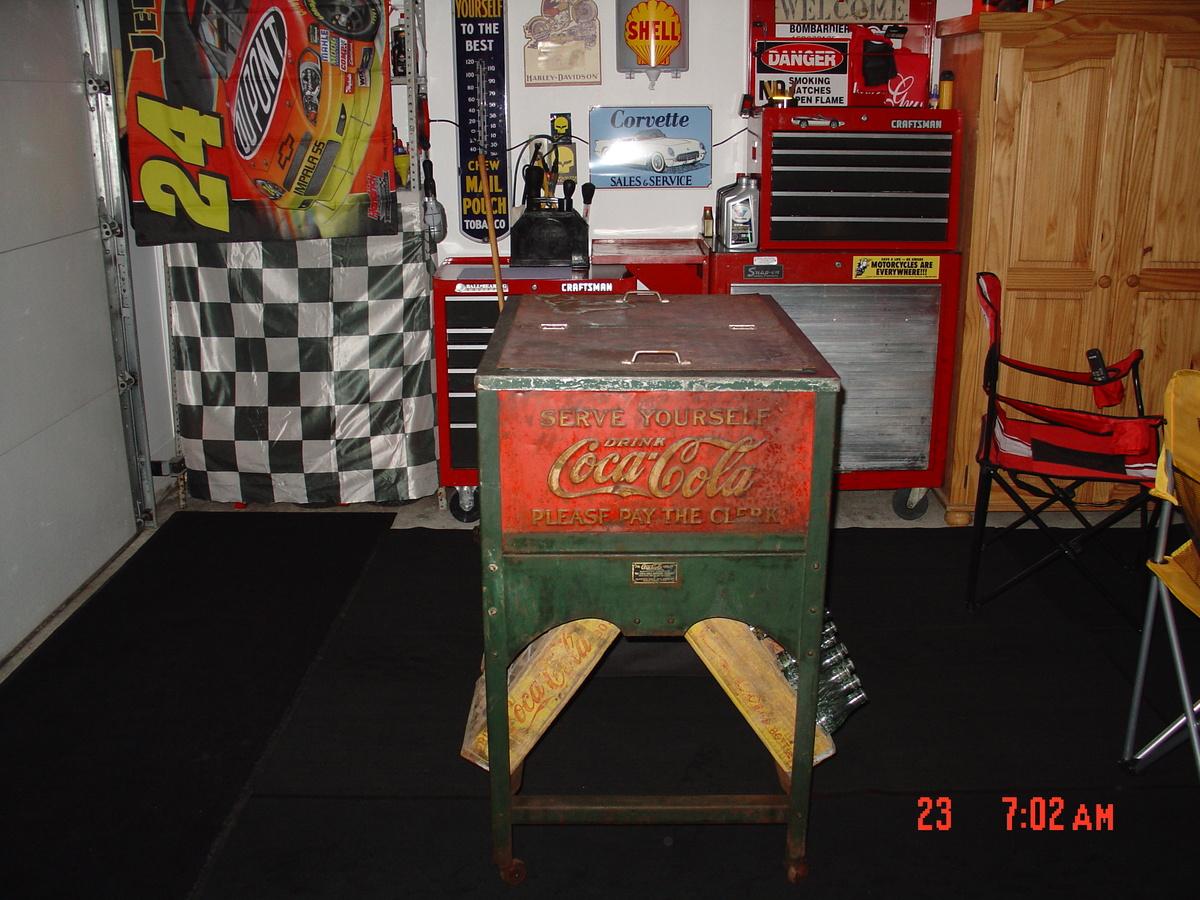 original 1929 glasscock coke cooler made in muncie