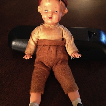 Unknown doll. *had a Brownies or Girl Scout badge - Dolls