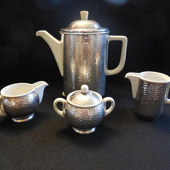 Art Deco Coffee Pot Set Bauscher Weiden Bavaria Germany