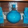 Turquoise modern vase