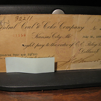1905 Railroad checks