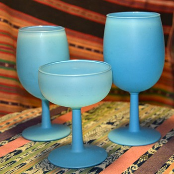 Blue Liquor Glasses - Kitchen