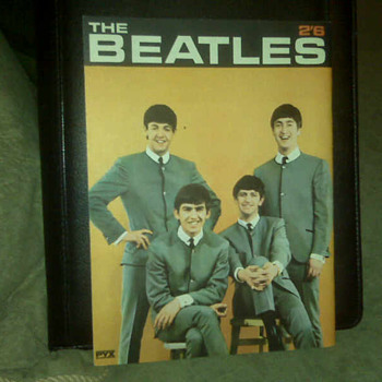 The Beatles Booklet from England, front and back cover shown.  - Music