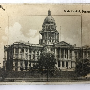 1905  State Capitol  Denver Colorado fold out postcards + Message - Postcards