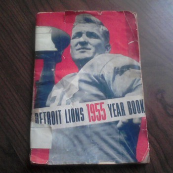 1955 Detroit Lions Year Book - Football