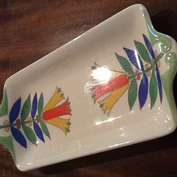Royal Doulton Art Deco sandwich plate. - Art Pottery