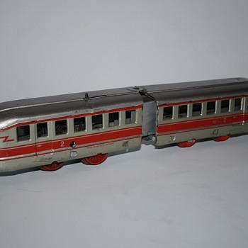 Distler trolley streetcar wind up tin toy