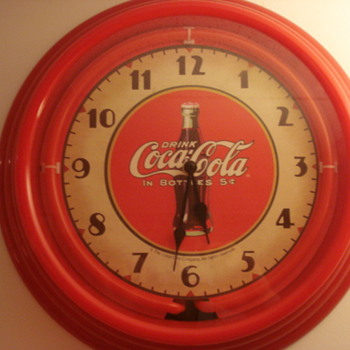 Neon Coke Clock