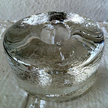 Blenko Icy Taper Candle Holder