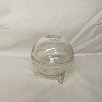 Art deco glass orb dish