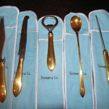 Antique Tiffany & Company 5 piece Martini Traveling Set