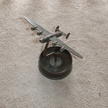 B-24 Liberator trench art ash tray - Military and Wartime