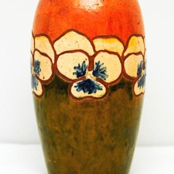 Vase with Flower Decoration (Denmark) ca. 1910 - Pottery