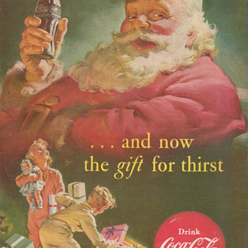 1952 - Coca Cola Advertisement - Christmas
