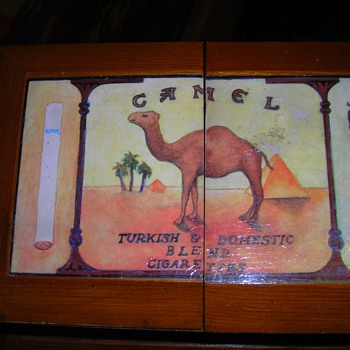 Camel brand large wooden cigarette display box