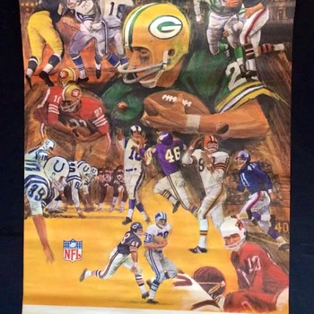 Green Bay Packers vintage Dave Boss poster