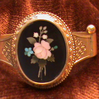 Victorian Pietra Dura Bangle