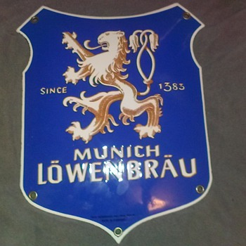 Munich Lowenbrau Since 1383 Hans Holter, Inc., New York 51 MADE IN GERMANY - Signs