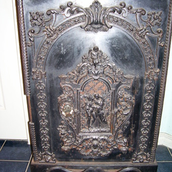 Old Victorian Parlor Coal Stove - Victorian Era
