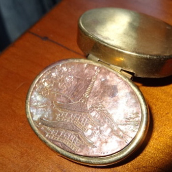 Little Metal Snuff Box - Asian