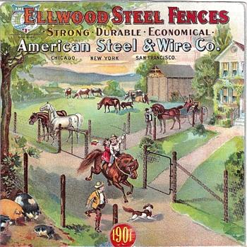 ELLWOOD STEEL FENCE ADVERTISING
