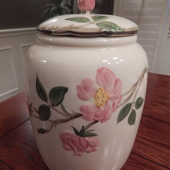 Franciscan Desert Rose cookie jar - China and Dinnerware