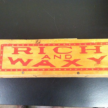 Rich and Waxy, Wooden Plug Caddy - Advertising