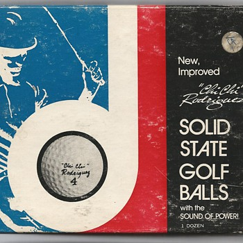 "The ""Chi Chi"" Rodríguez Solid State Signature Golf Ball, circa 1964."