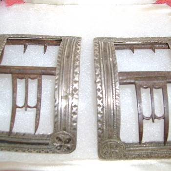 Silver Shoe Buckles 1763 or 1764