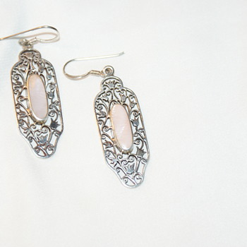 Sterling and MOP Earrings - Fine Jewelry