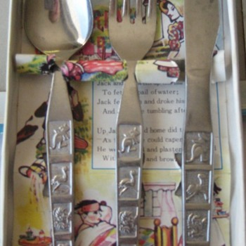Children&#039;s Jack &amp; Jill Cutlery Set  - China and Dinnerware