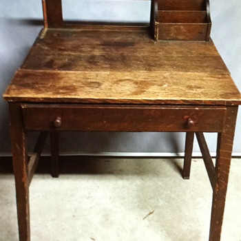 Brown wooden desk. - Furniture