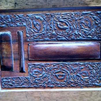 Unusual Carved Wooden Box
